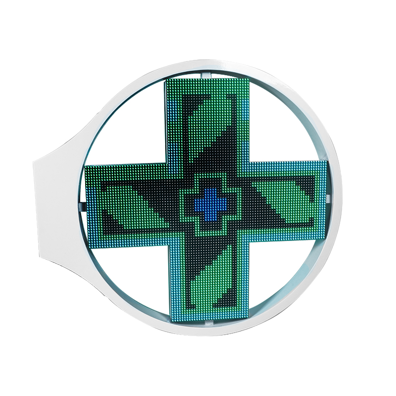 Grace Pharmacy cross led display