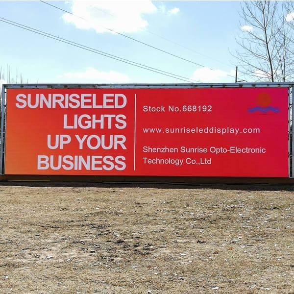 P8mm outdoor fix installation led billboard in America case