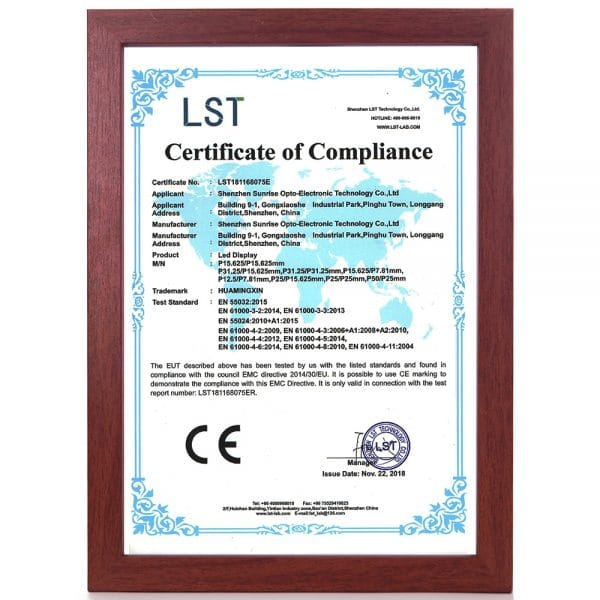 Technology | test items and standards for CE certification of LED display screen