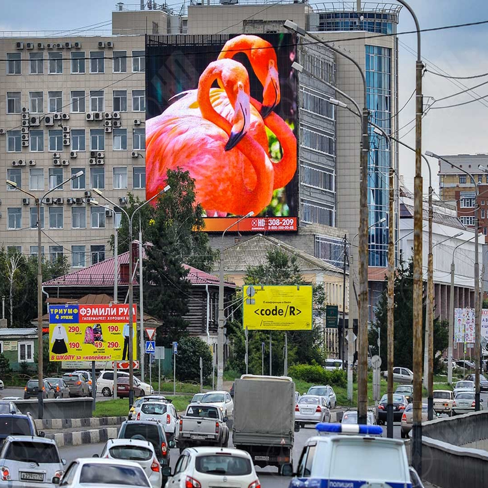 Sunrise P10 led display in Latvia
