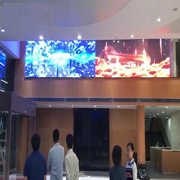 4s shop led transparent screen in Dongguan