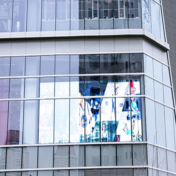 Shopping mall glass building transparent screen in Xiamen