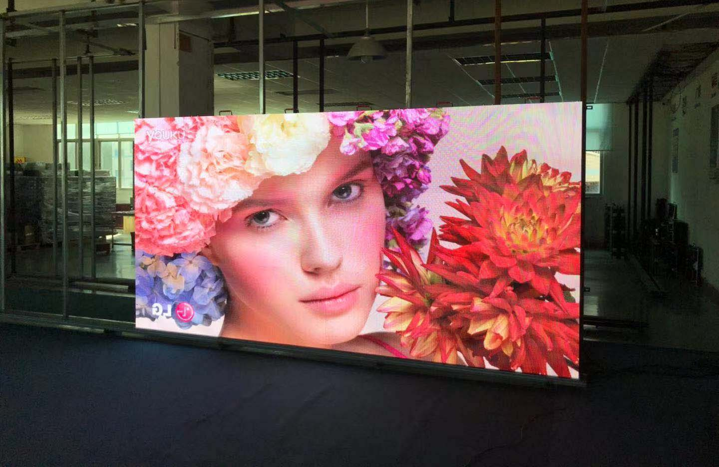 What is the viewing angle of a full-color LED display?