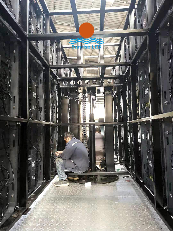 liftable truck screen